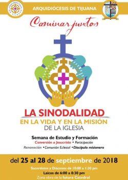 """Semana de Estudio y Formación """"La Sinodalidad en la vida y en la misión de la Iglesia"""""""