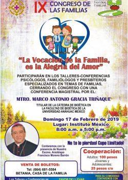 Programa IX Congreso de las Familias