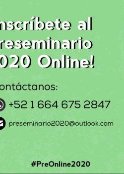 Inscríbete al Preseminario 2020 Online!!