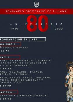 ¡Festeja con el Seminario Diocesano de Tijuana su 80 Aniversario!