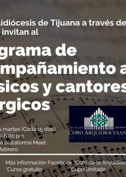 Programa de acompañamiento a músicos y cantores litúrgicos